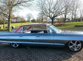 American Cadillac wedding car hire in Newport